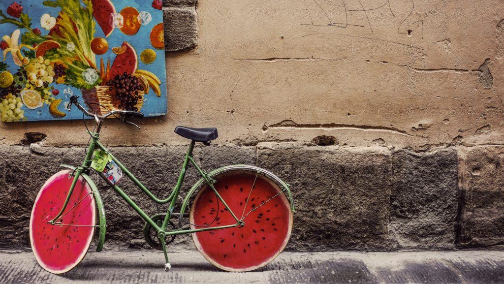 arbuzowy rower